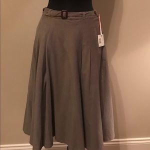 NWT Intuitions a-line corduroy skirt